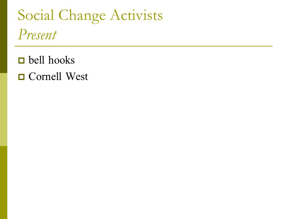 Social Change Activists Present  bell hooks  Cornell West
