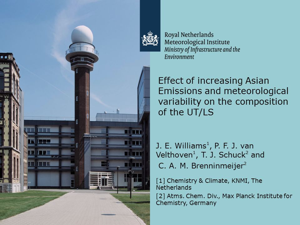 Effect of increasing Asian Emissions and meteorological variability on the composition of the UT/LS J.