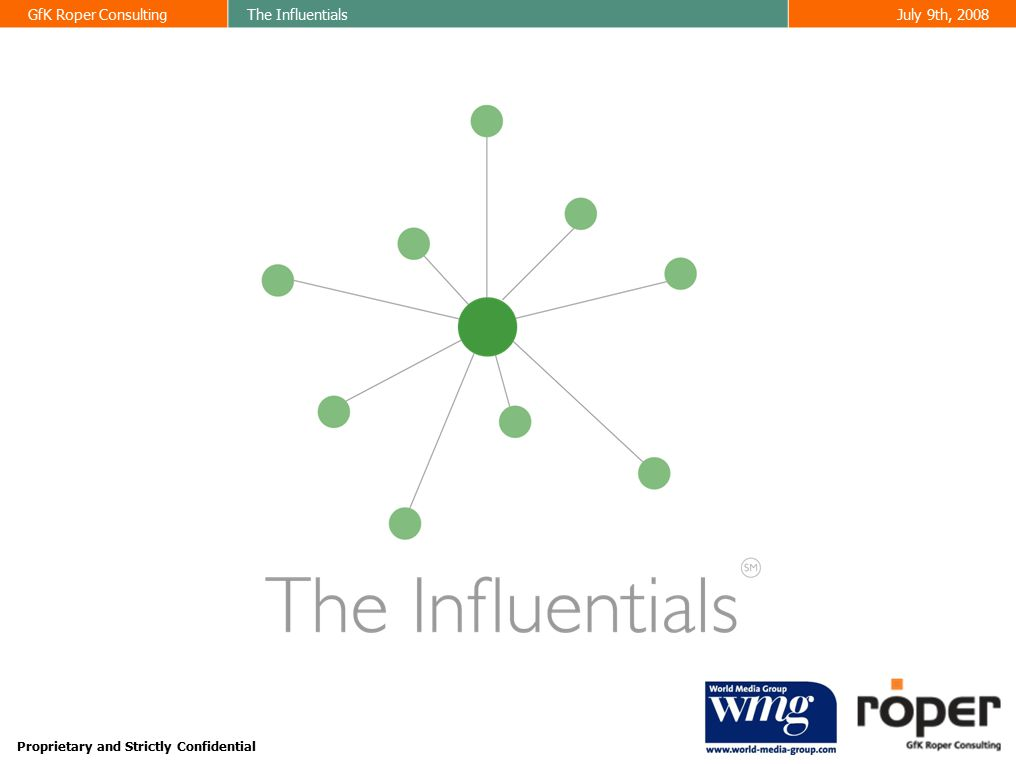 GfK Roper ConsultingThe InfluentialsJuly 9th, 2008 32 % meeting the criteria needed to be a digital influential World Media Group has more Digital Influentials among its readers