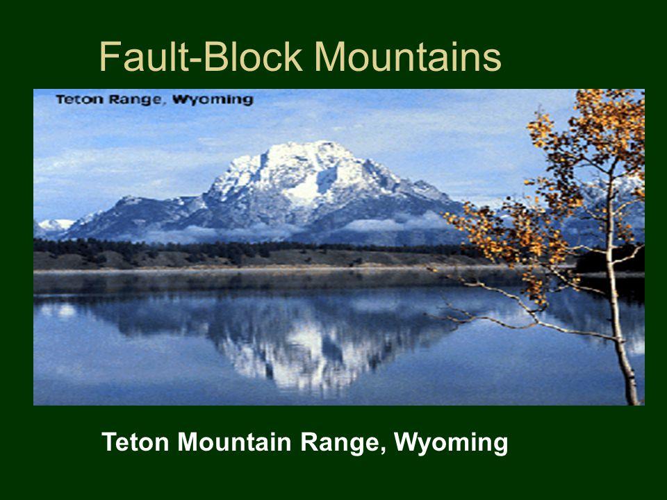 Fault-Block Mountains Teton Mountain Range, Wyoming
