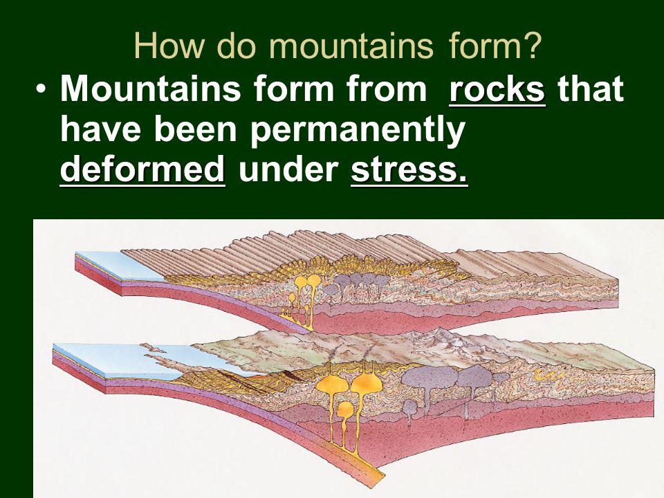 How do mountains form.