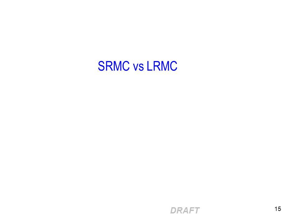 DRAFT 15 SRMC vs LRMC