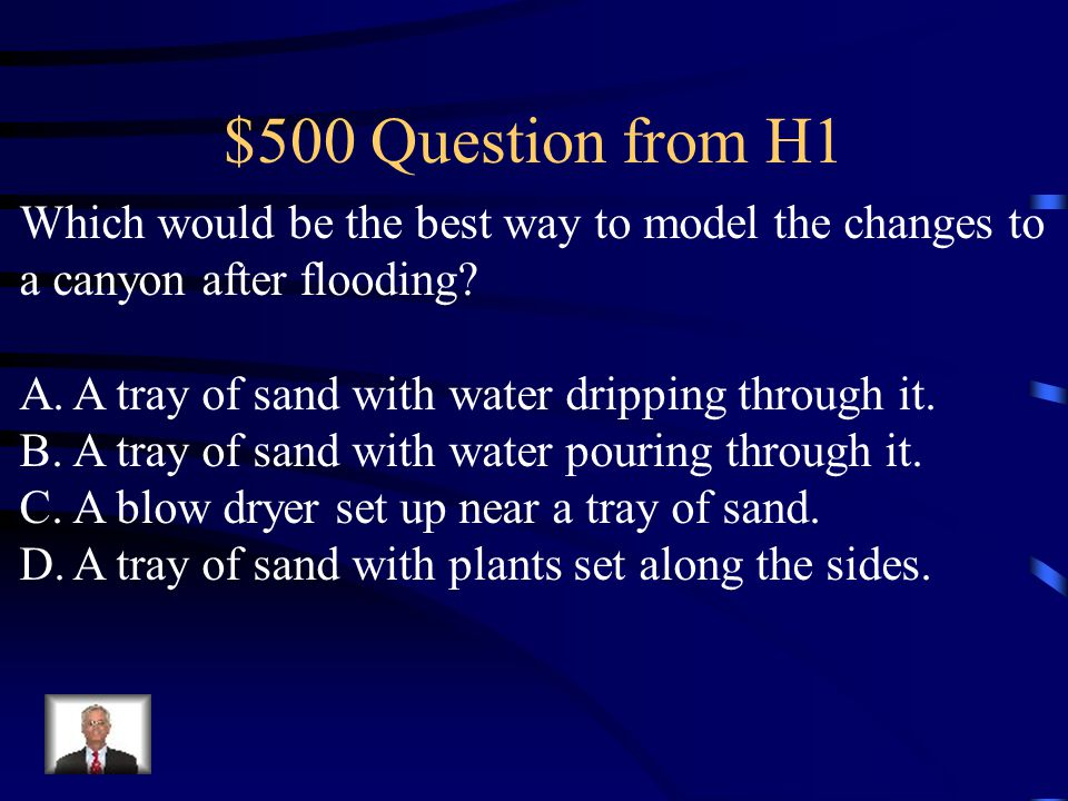 $400 Answer from H1 C. Volcanic activity