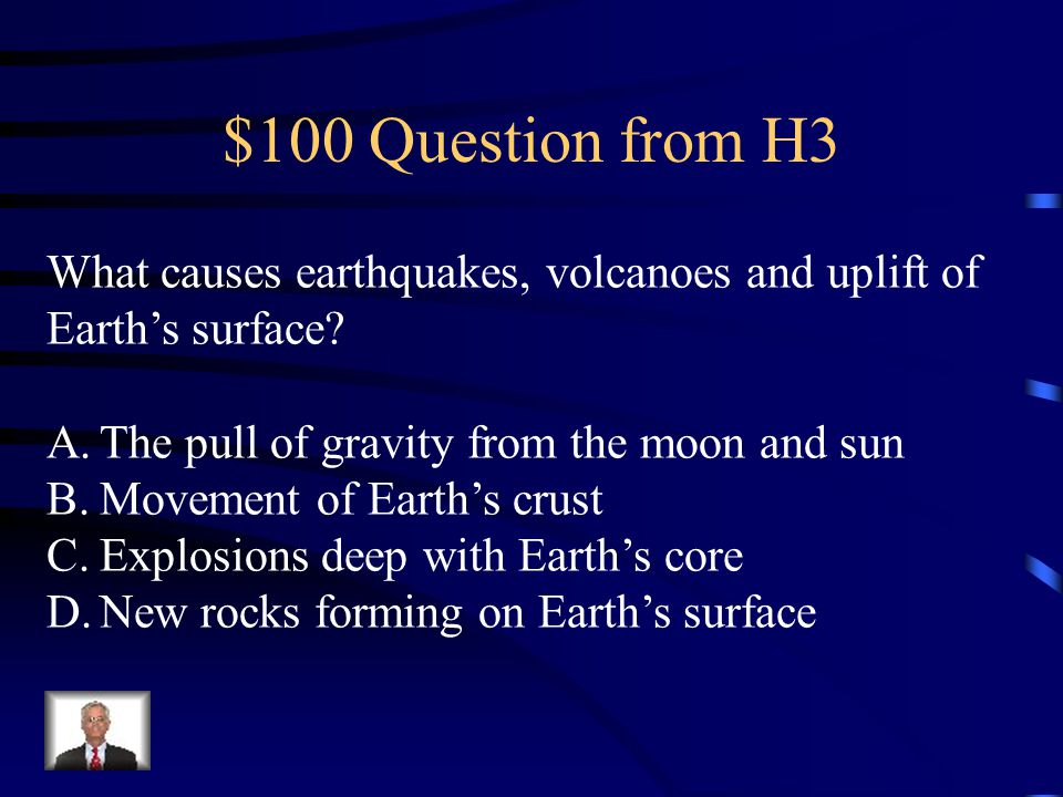 $500 Answer from H2 C. Mountains and valleys