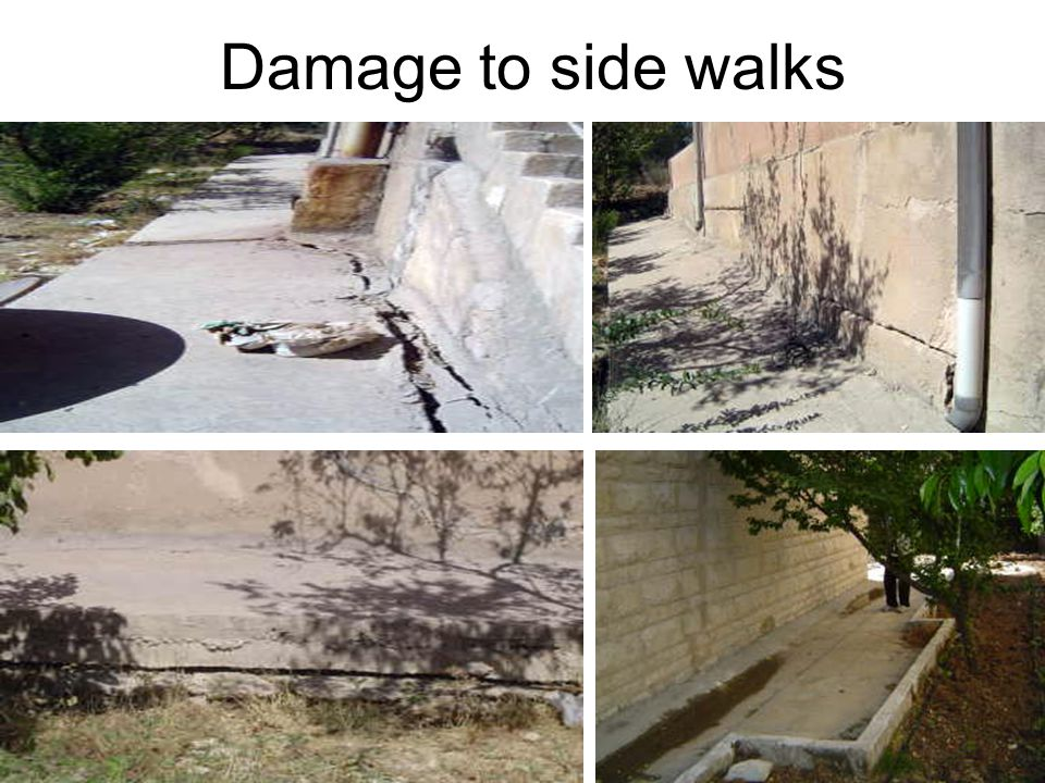 Damage to side walks