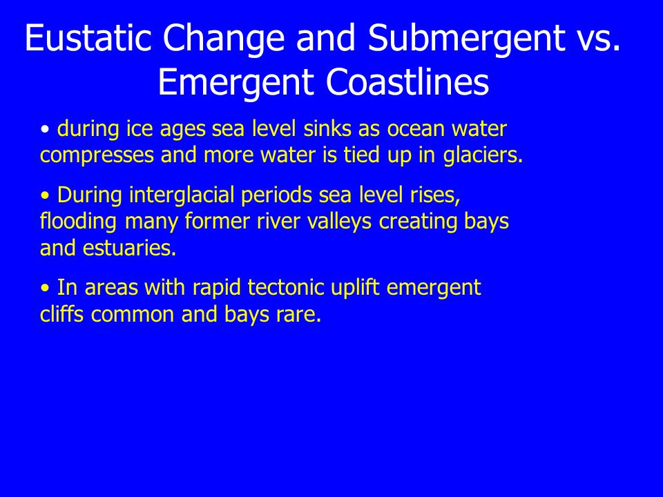 Eustatic Change and Submergent vs.