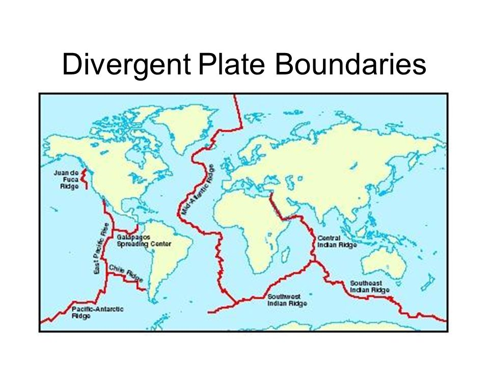 Mid Ocean Ridges Continuous underwater mountain chains that extend up to 60,000 km around the globe.