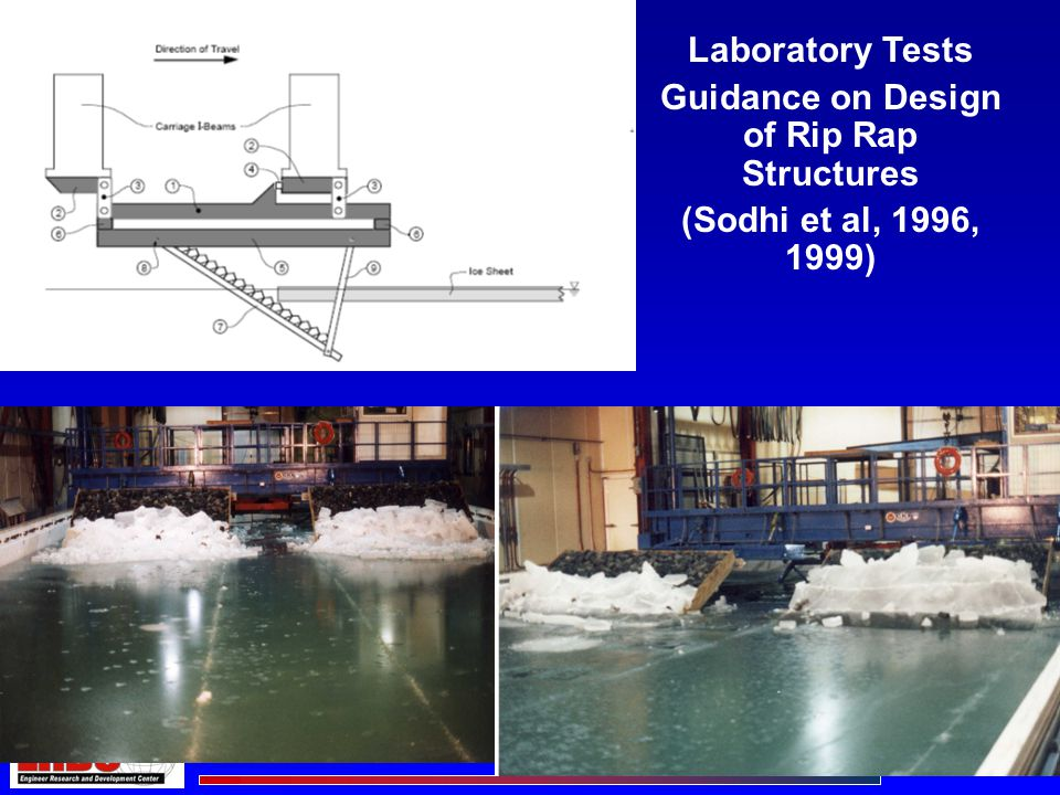 Laboratory Tests Guidance on Design of Rip Rap Structures (Sodhi et al, 1996, 1999)