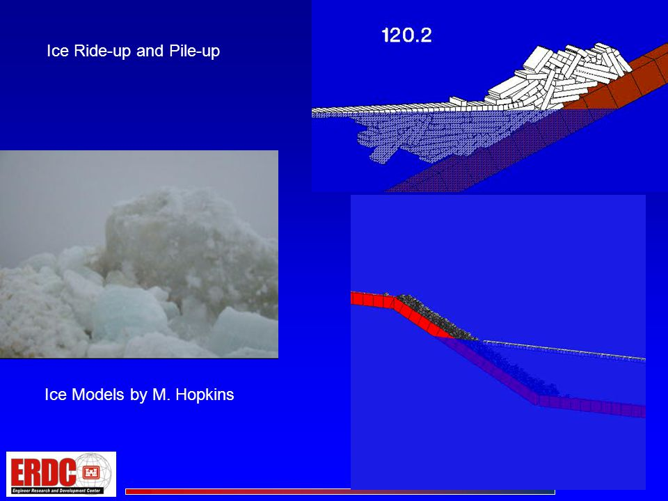 Cold Regions Impacts on Coastal Structures- Summary Ice can impact coastal structures in a variety of ways The state-of-the-art in understanding and estimating ice impacts has advanced considerably in the last 25+ years However, predicting the impact on 3-D coastal structures of large ice sheets driven by wind and water drag over existing shoreline bathymetry still remains difficult.