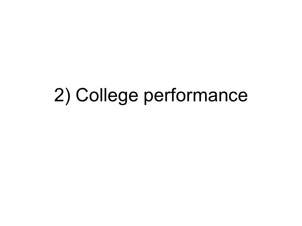 2) College performance