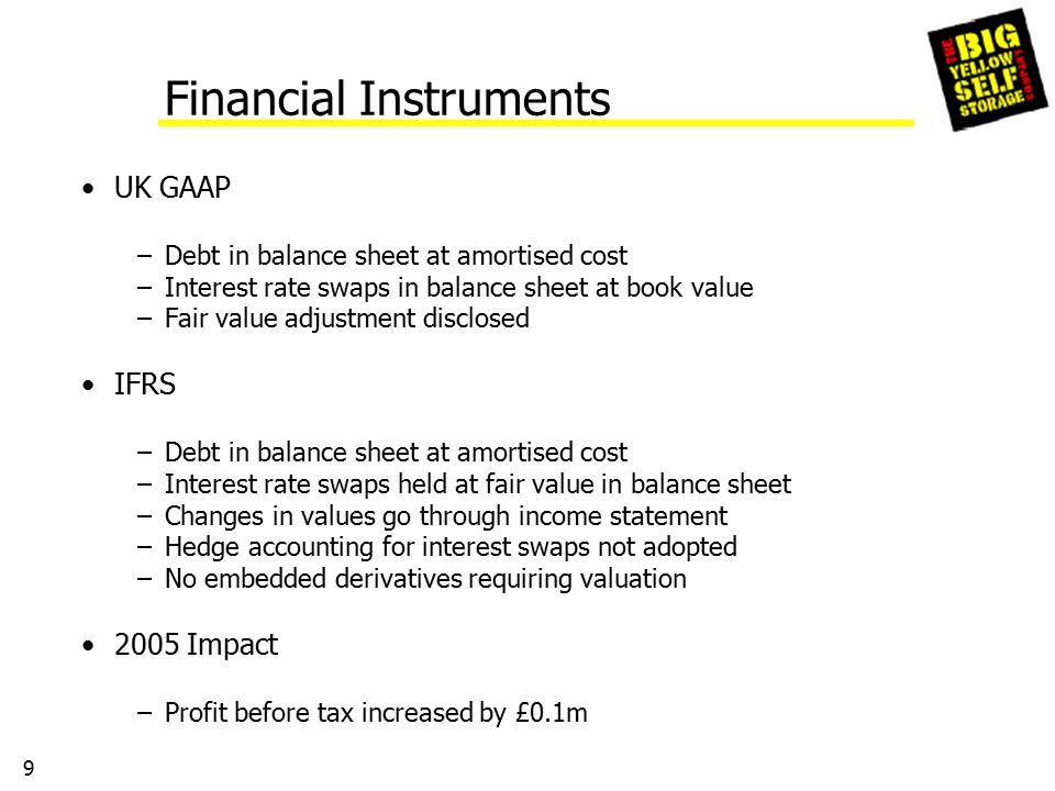 10 Share Based Payments Post November 2002 share options Valued using Black-Scholes model Volatility 2005 impact – profit before tax down by £0.1m