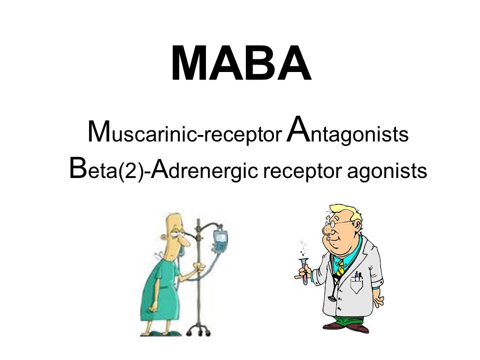 MABA M uscarinic-receptor A ntagonists B eta(2)- A drenergic receptor agonists