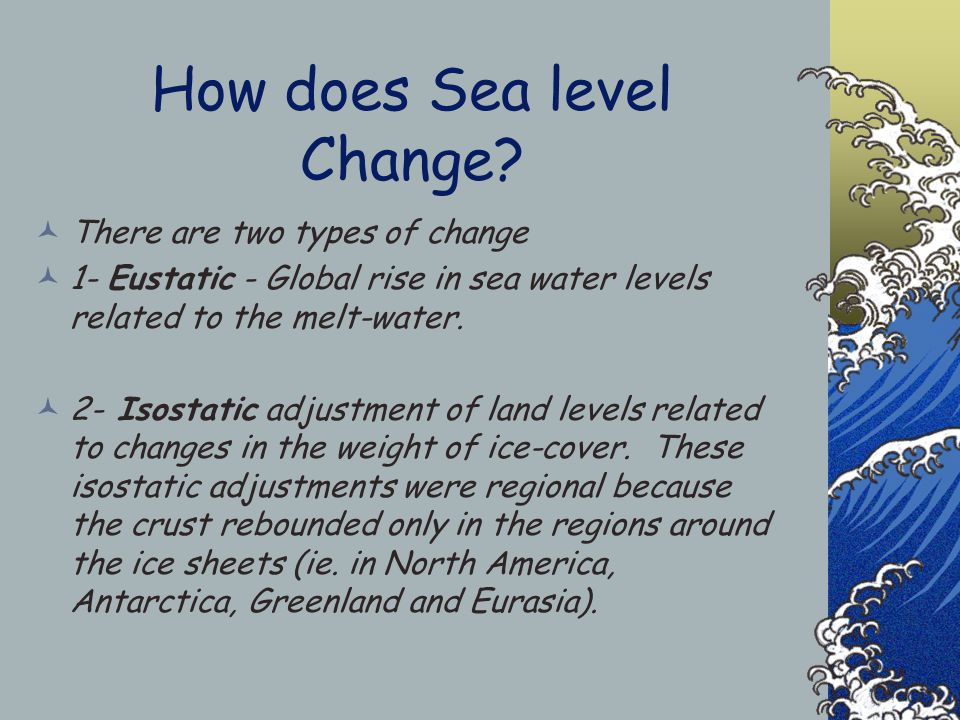 Sealevel Changes and Landforms Miss B
