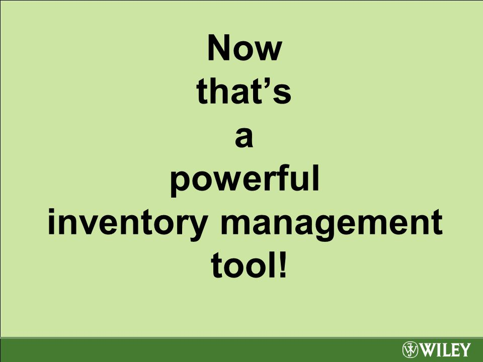 Now that's a powerful inventory management tool!