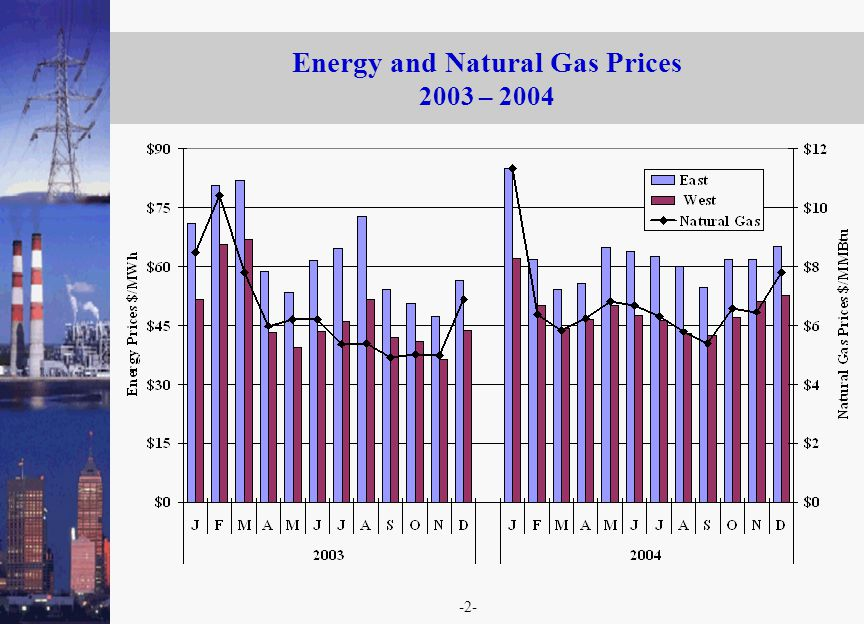 -2- Energy and Natural Gas Prices 2003 – 2004