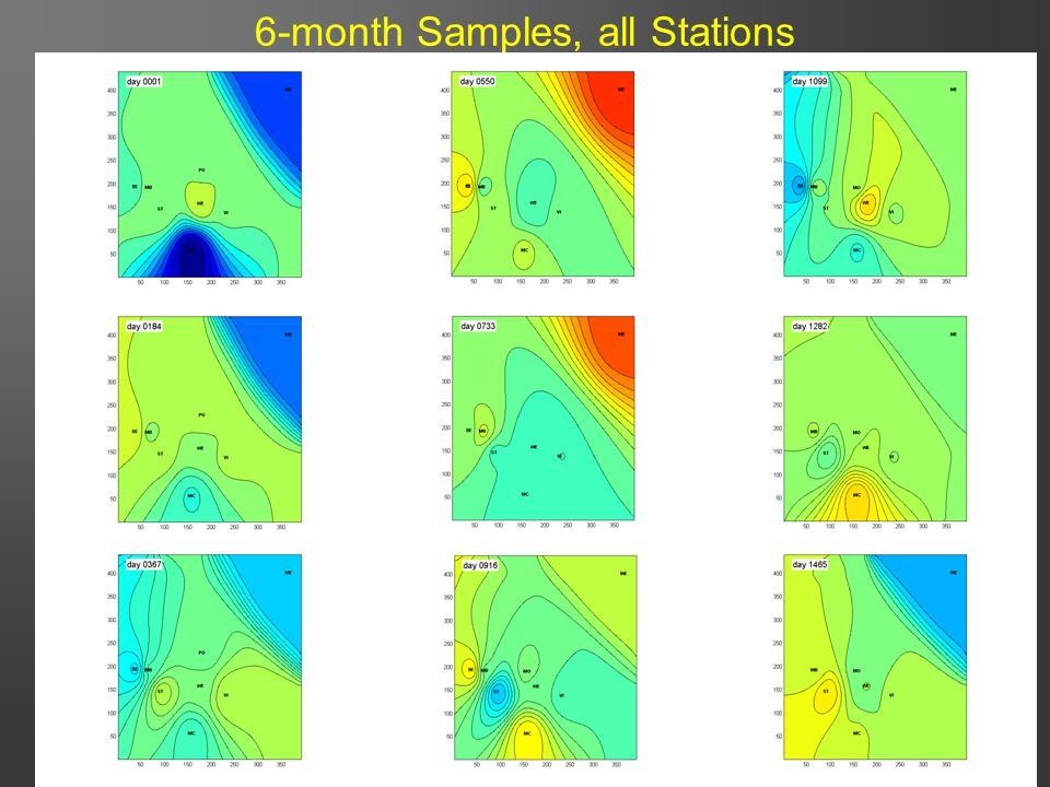 31 6-month Samples, all Stations
