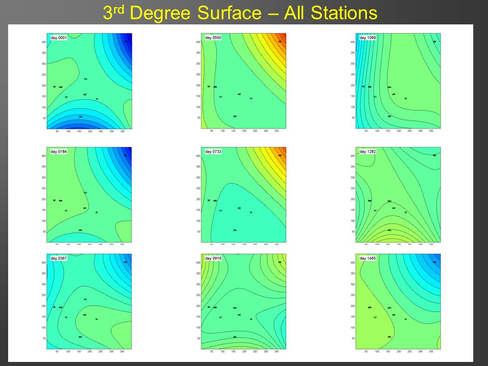 34 3 rd Degree Surface – All Stations
