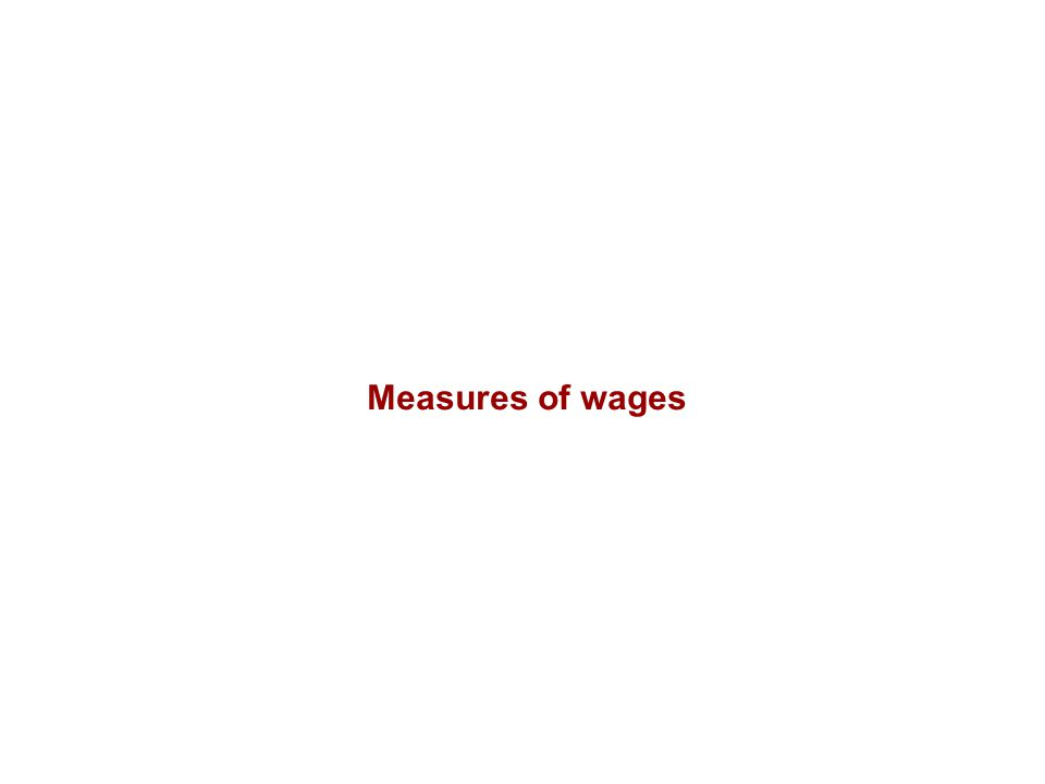 Measures of wages
