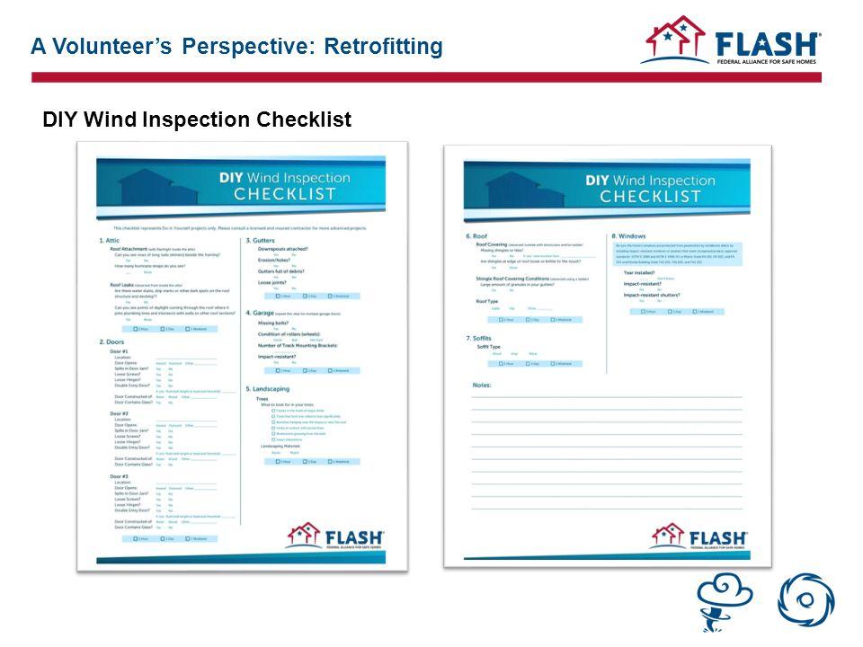 DIY Wind Inspection Checklist A Volunteer's Perspective: Retrofitting