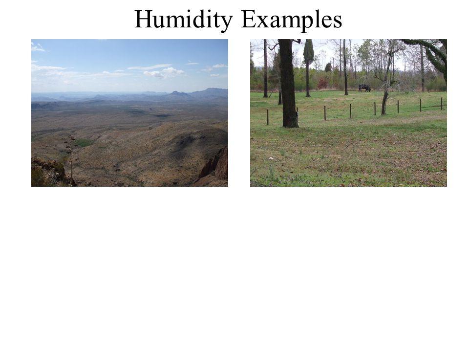 Humidity Examples