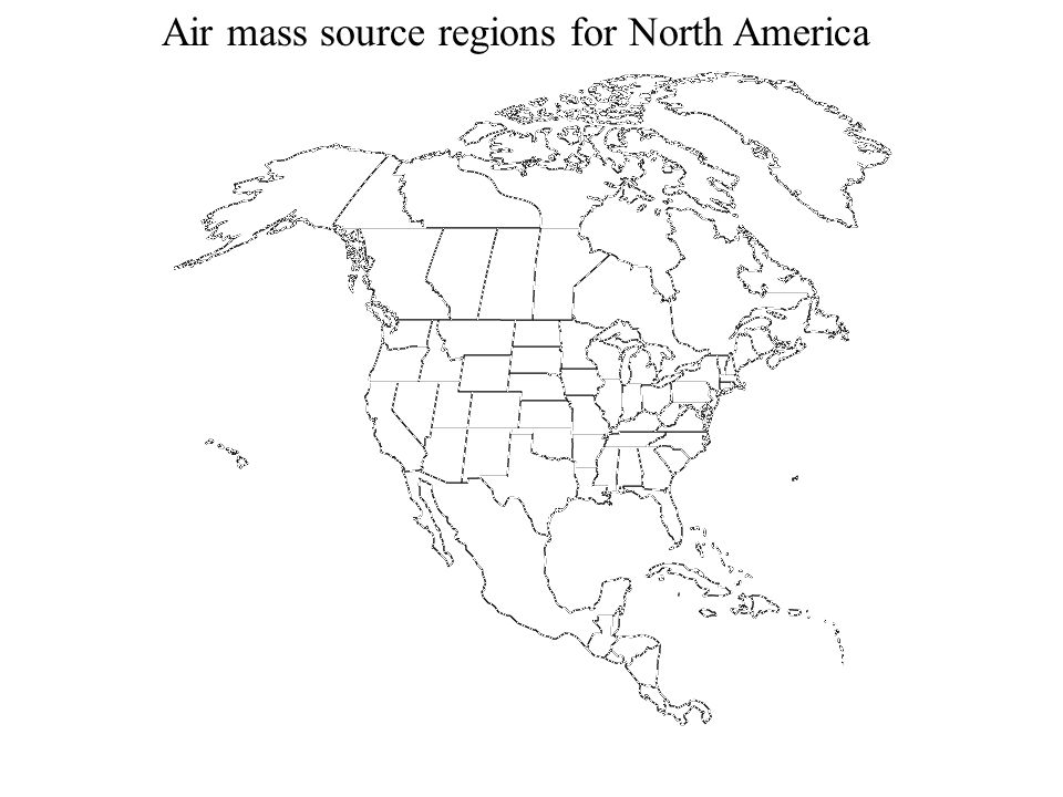 Air mass source regions for North America