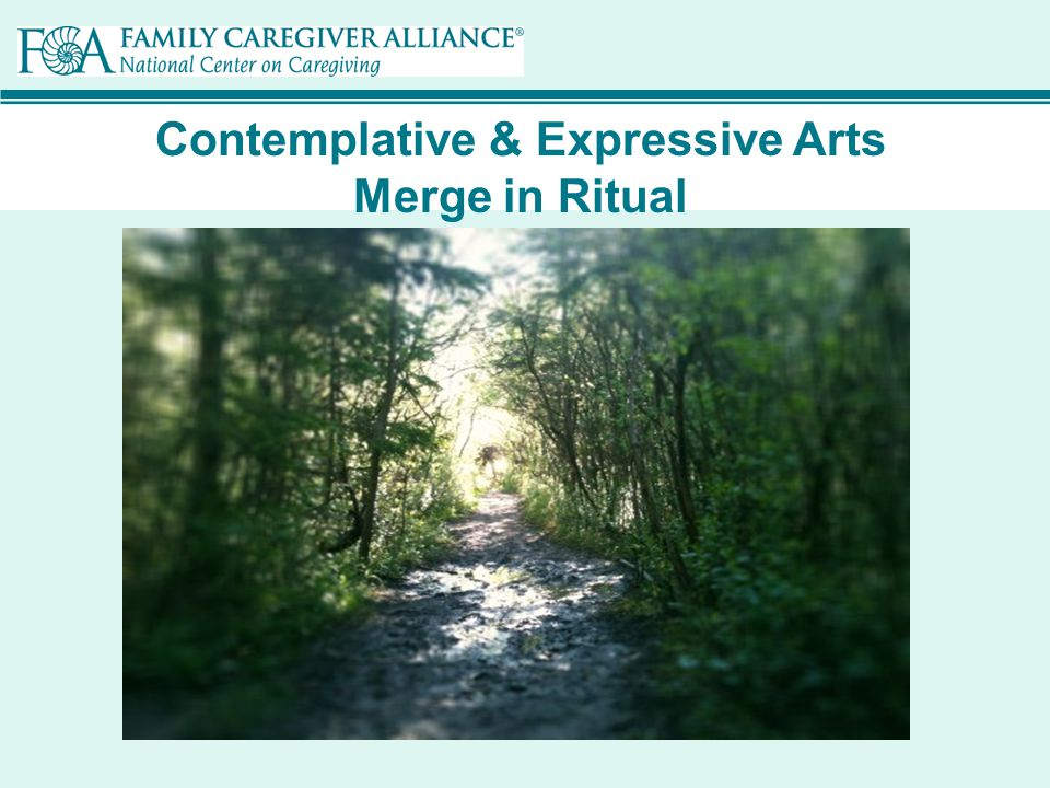 Contemplative & Expressive Arts Merge in Ritual Including everyday, simple rituals
