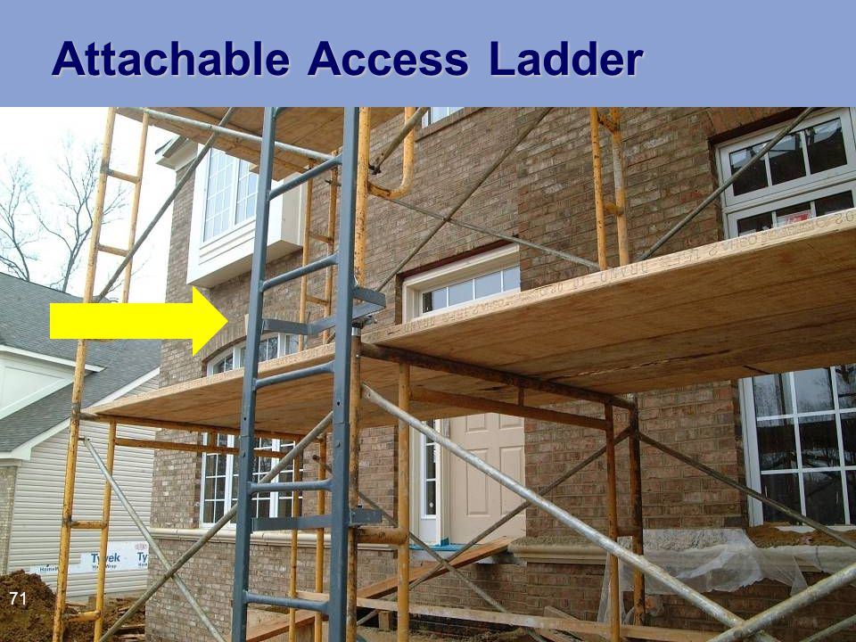 Attachable Access Ladder 71