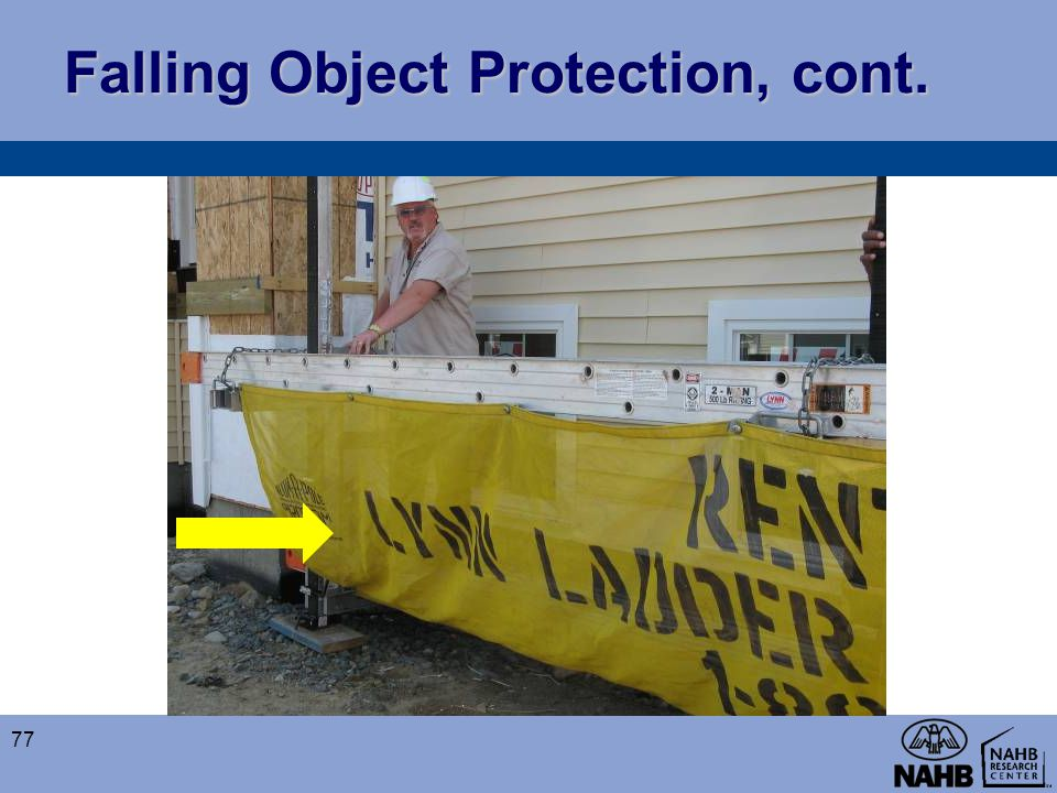 Falling Object Protection, cont. 77