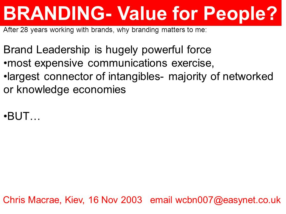 BRANDING- Value for People.