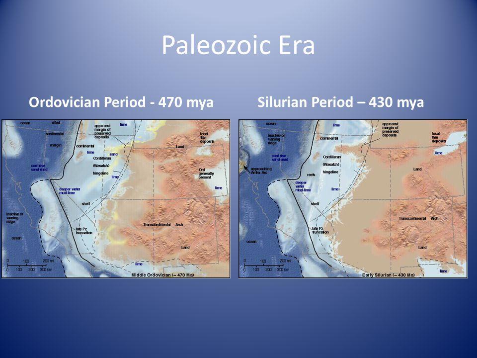 Paleozoic Era Ordovician Period - 470 mya Silurian Period – 430 mya