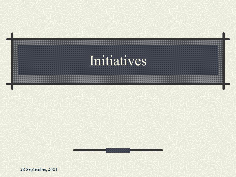 28 September, 2001 Initiatives