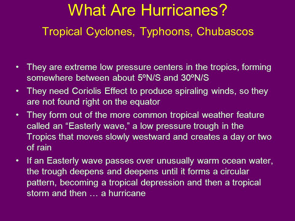 What Are Hurricanes.