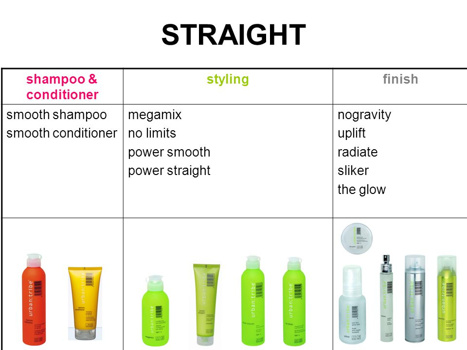 STRAIGHT shampoo & conditioner stylingfinish smooth shampoo smooth conditioner megamix no limits power smooth power straight nogravity uplift radiate sliker the glow