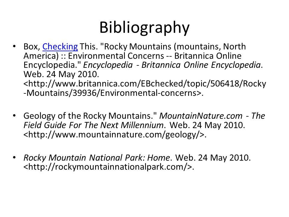 Bibliography Box, Checking This.