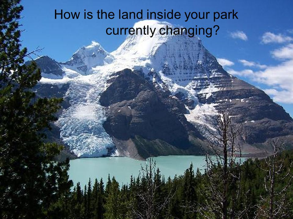 How is the land inside your park currently changing