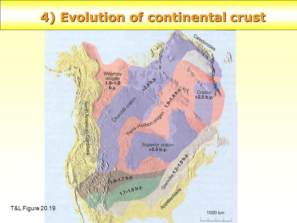 4) Evolution of continental crust T&L Figure 20.19