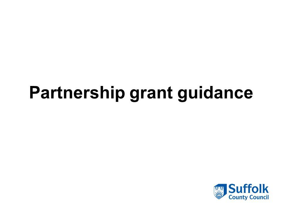 Partnership grant guidance