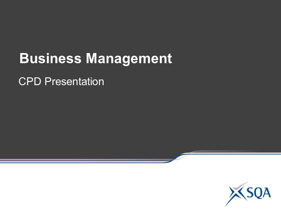 Business Management CPD Presentation