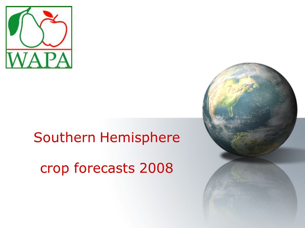 Southern Hemisphere crop forecasts 2008