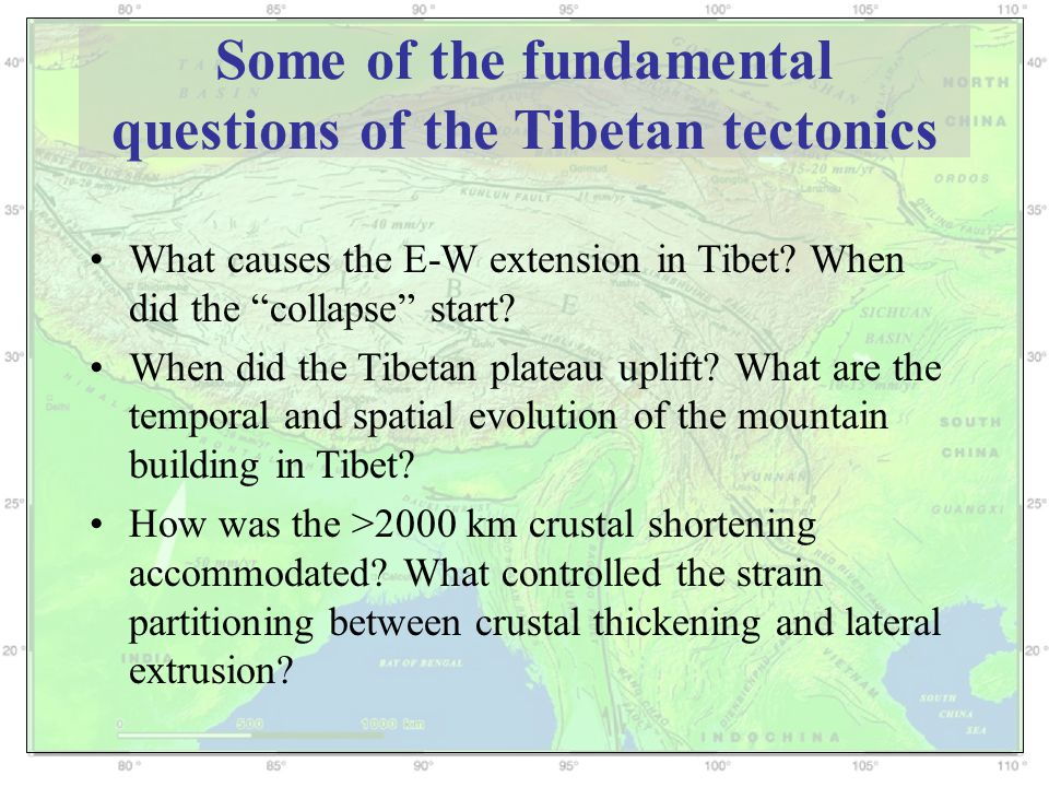 Predicted uplift history of the different parts of the Tibetan Plateau Accelerated uplift but different history at various parts of Tibet; Most parts reached >3 km ~10-20 Myr ago.