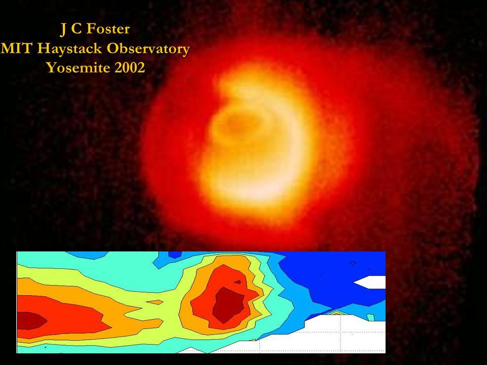 J C Foster MIT Haystack Observatory Yosemite 2002 Plasma Tails & Ionospheric SED