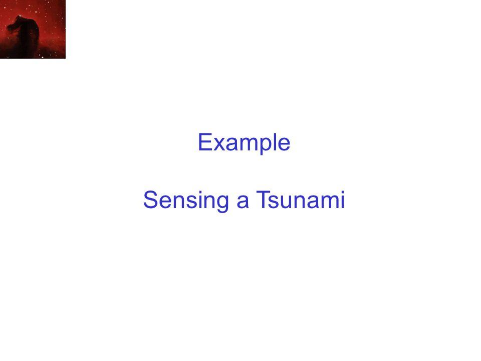 Example Sensing a Tsunami