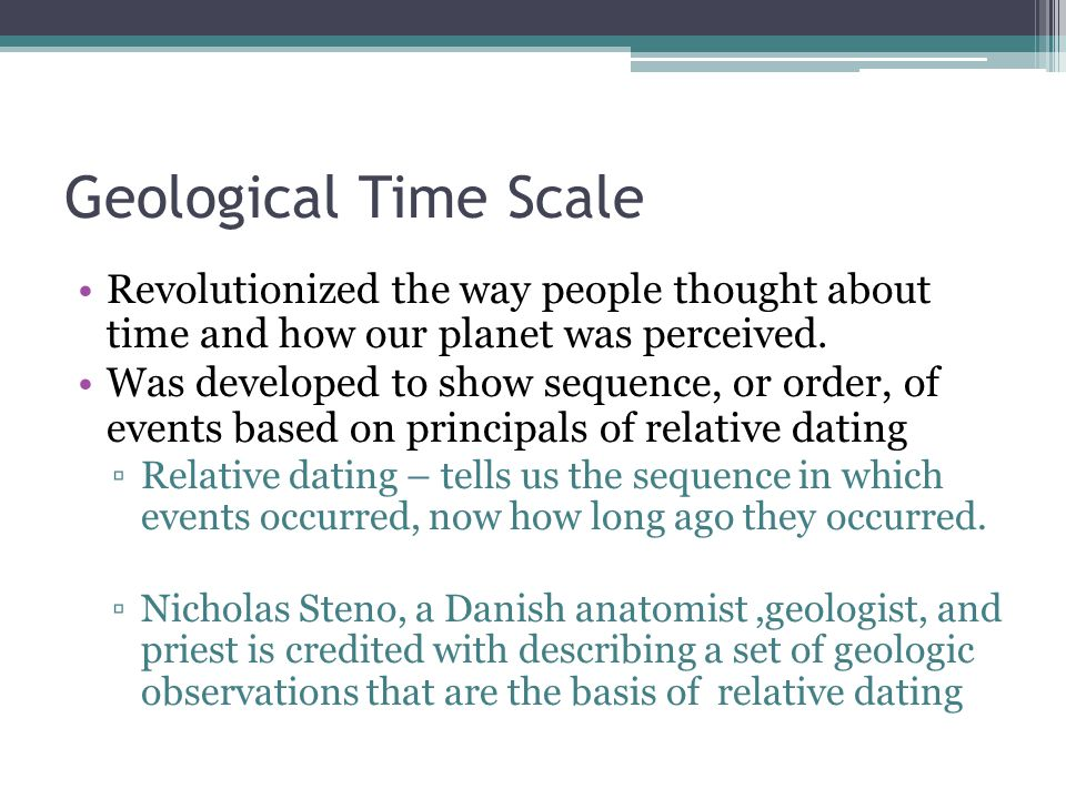 Geological Time Scale Revolutionized the way people thought about time and how our planet was perceived.