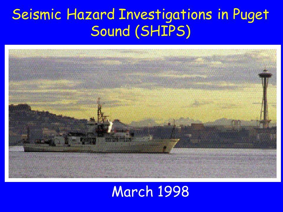 Seattle fault zone - AD 900 Blake Island M6.4 M7.2 Shallow splay faults