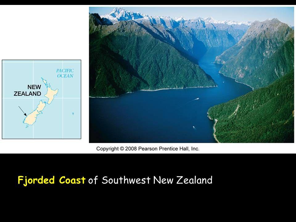 Fjorded Coast of Southwest New Zealand