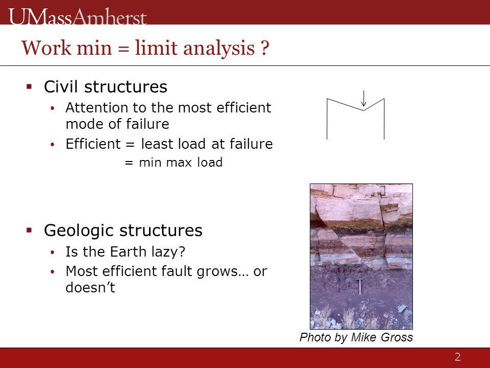 2 Work min = limit analysis .
