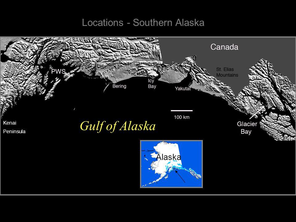 Wrangell/ St. Elias Mountains Kenai Mountains Chugach Mountains 50 km Wrangell- St.