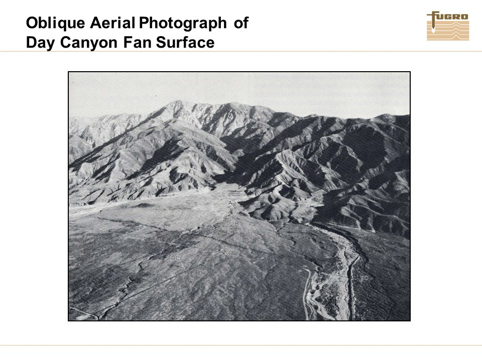 Oblique Aerial Photograph of Day Canyon Fan Surface
