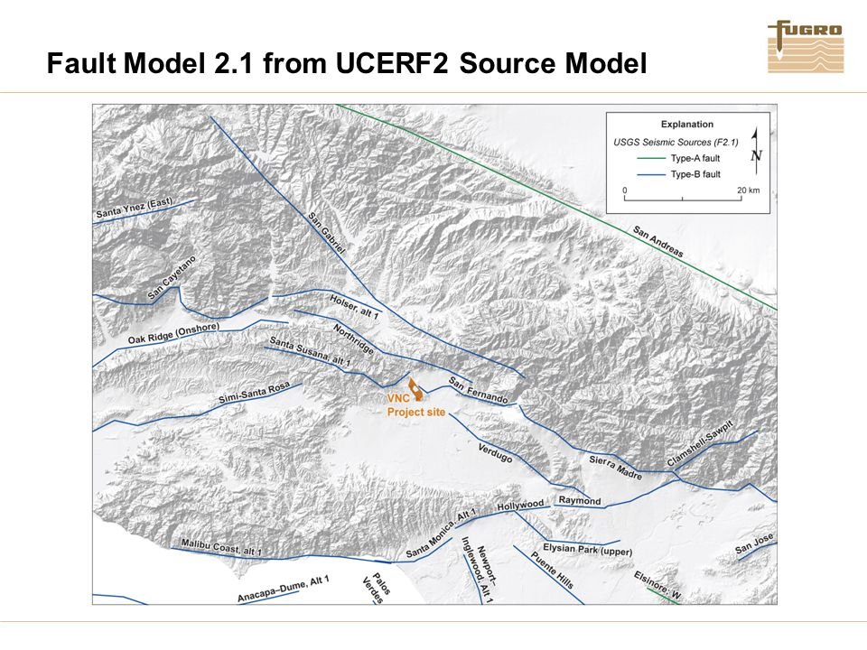 Fault Model 2.1 from UCERF2 Source Model