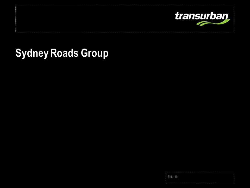 Slide 18 Sydney Roads Group